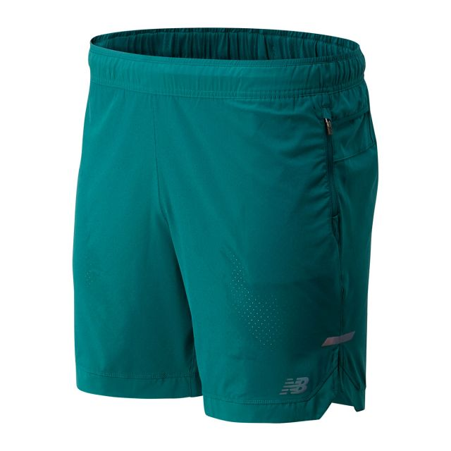 "New Balance Men's Q Speed Run Crew 7"" Short"