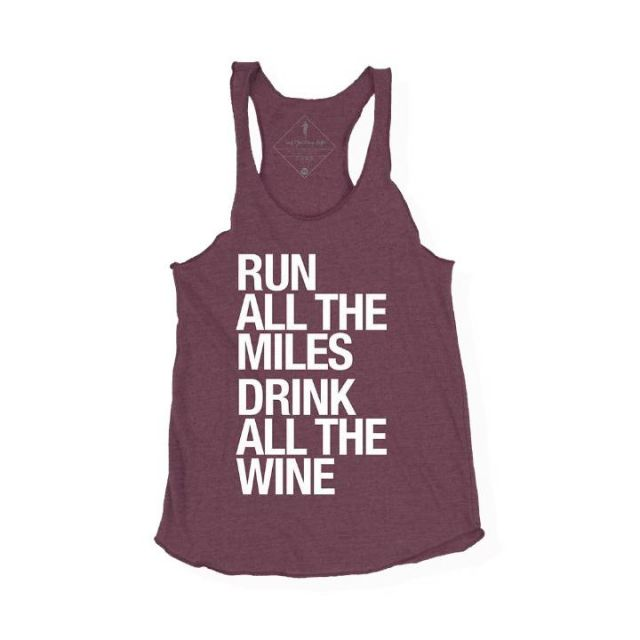 Sarah Marie Women's Run Drink Wine Racerback