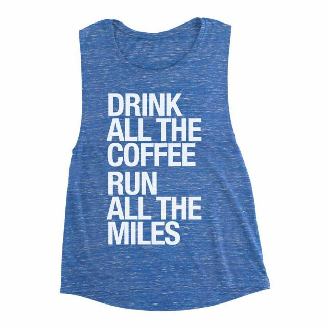 Sarah Marie Women's Run Drink Coffee Tank