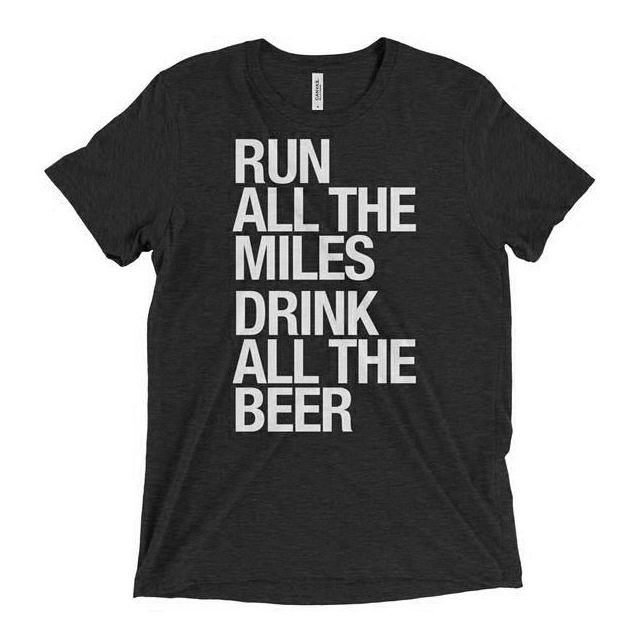 Sarah Marie Unisex Run Drink Beer Shortsleeve
