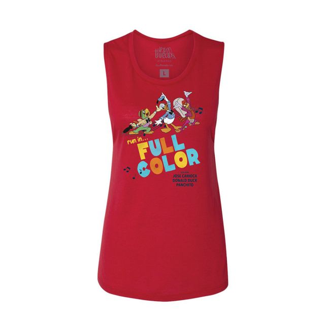 Raw Threads Women's 3 Caballeros Run in Full Color Tank