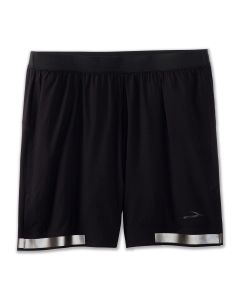 "Brooks Men's Run Visible Carbonite  7"" 2-in-1 Short"