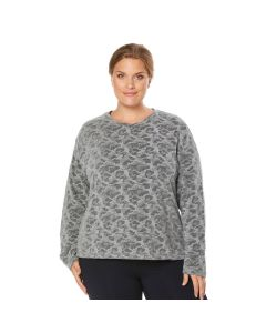 Shape Plus Size Women's Extended Day Print Sweatshirt