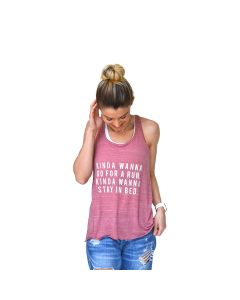 Sarah Marie Women's Kinda Wanna Run Racerback