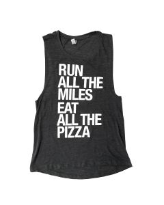 Sarah Marie Women's Run Miles Eat Pizza Tank