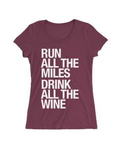 Sarah Marie Women's Run Drink Wine Shortsleeve
