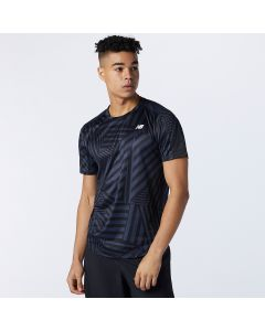 New Balance Men's Printed Fast Flight Short Sleeve