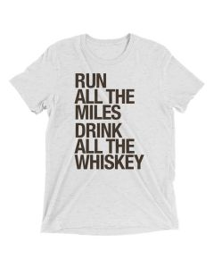 Sarah Marie Unisex Run Drink Whiskey Shortsleeve