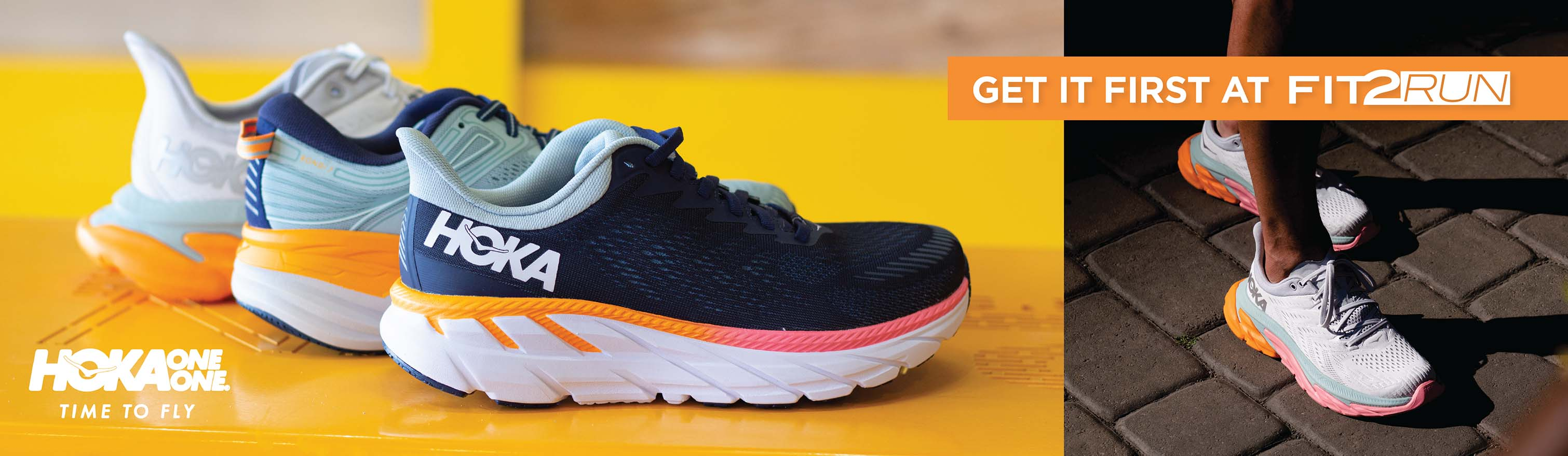 Hoka One One: Time to Fly. Shop the Hoka collection at Fit2Run