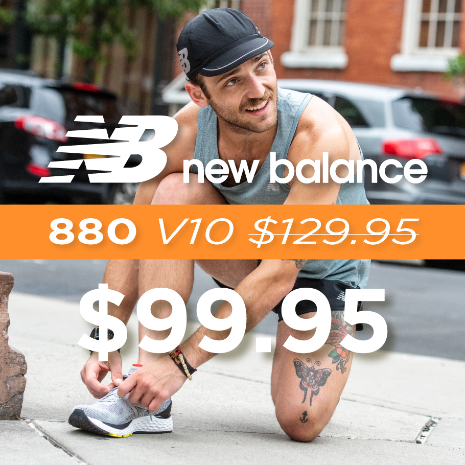 New Balance 880 V10 On Sale for $99.95