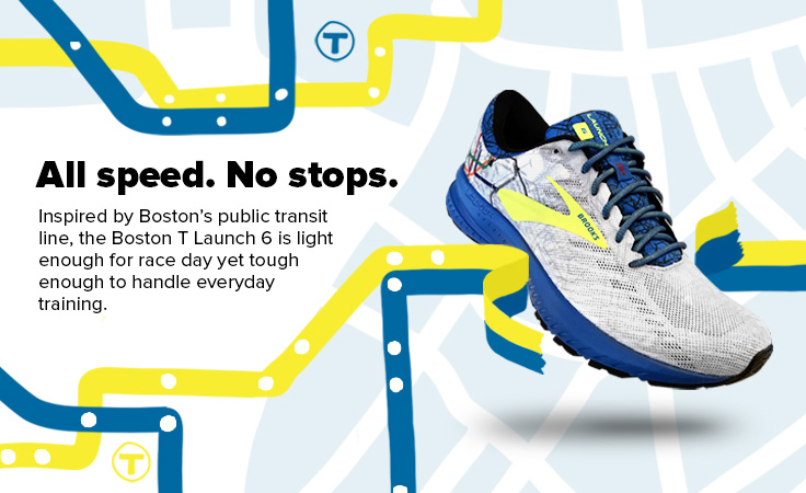 Brooks Limited Edition Launch 6 Boston T