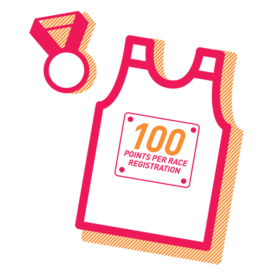 Earn 100 for Registering for Fit2Run Races