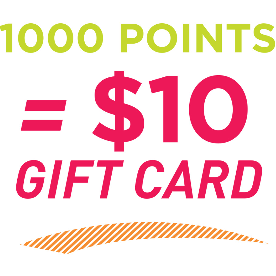 1000 F2R Points = $10 eGift Card