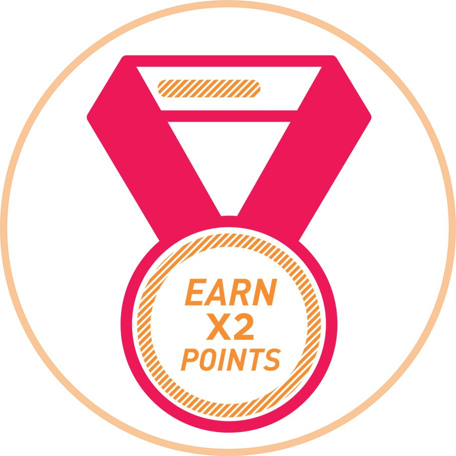 As a Member, Earn Double Points