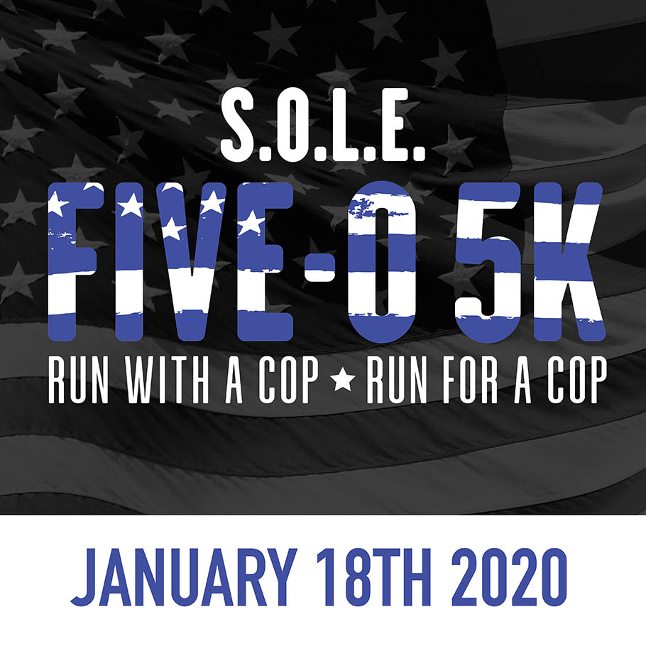 Sign up for the S.O.L.E. Five-O 5K