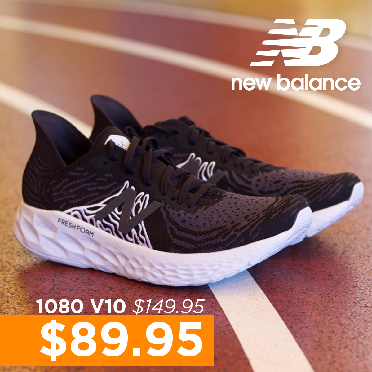 New Balance 1080 v10 now $89.95 instead of $149.95