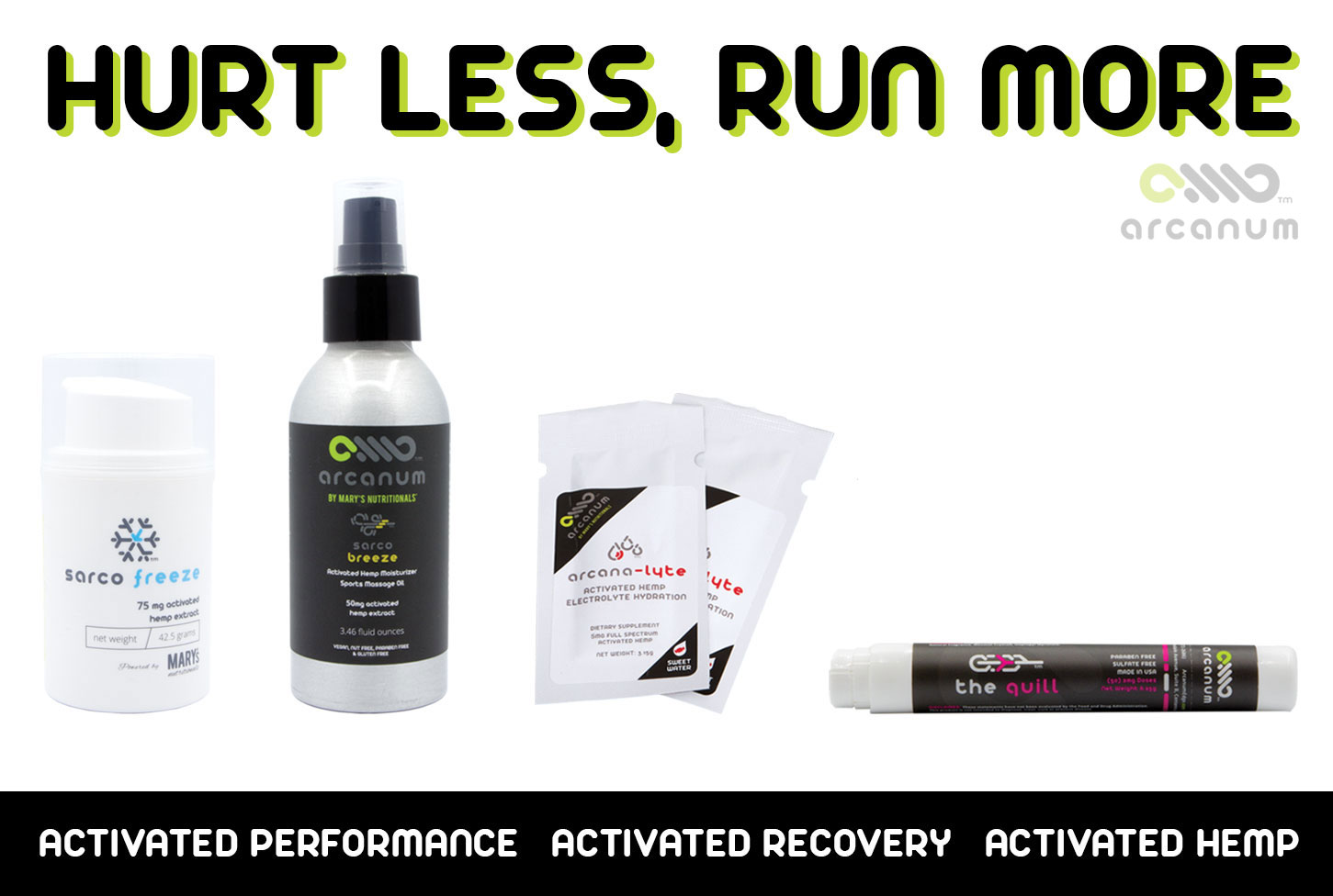 Hurt Less, Run More with Arcanum CBD Performance and Recovery Products
