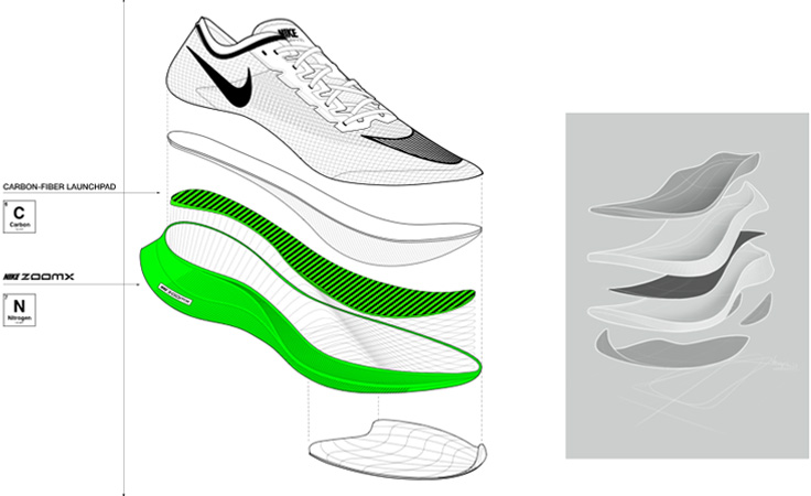 Nike Vaporfly Next% Structure