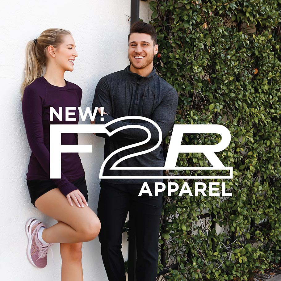 New Men's and Women's F2R Apparel