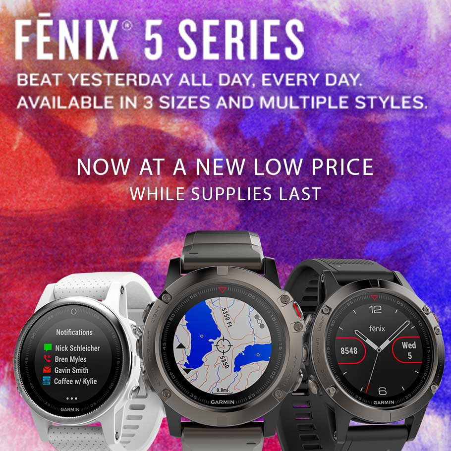 The Garmin Fenix 5 Series now at a new low price