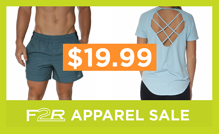 All F2R Apparel now $19.99